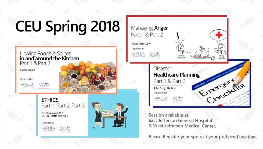 CEU Spring Schedule 2018