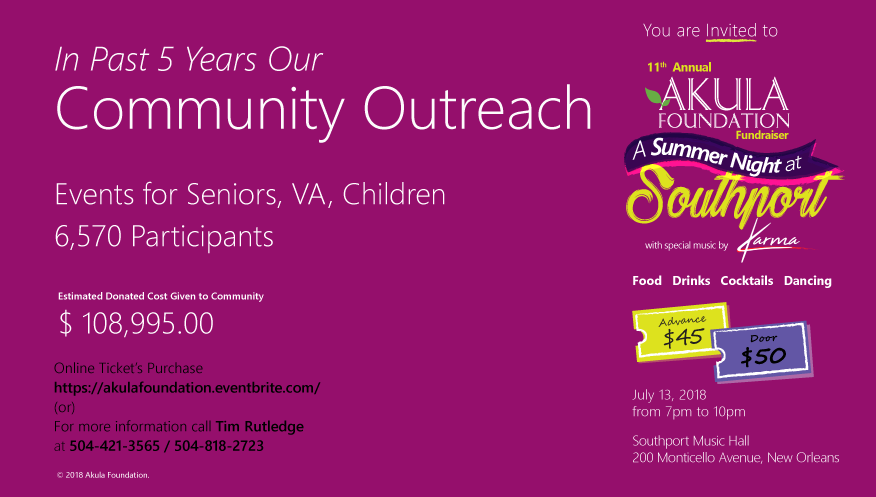 Past 5 years Community OutReach